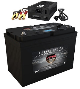 VPG12C-100LFP Li-Iron 12V 100AH Deep Cycle Battery Power Generator W/Charger
