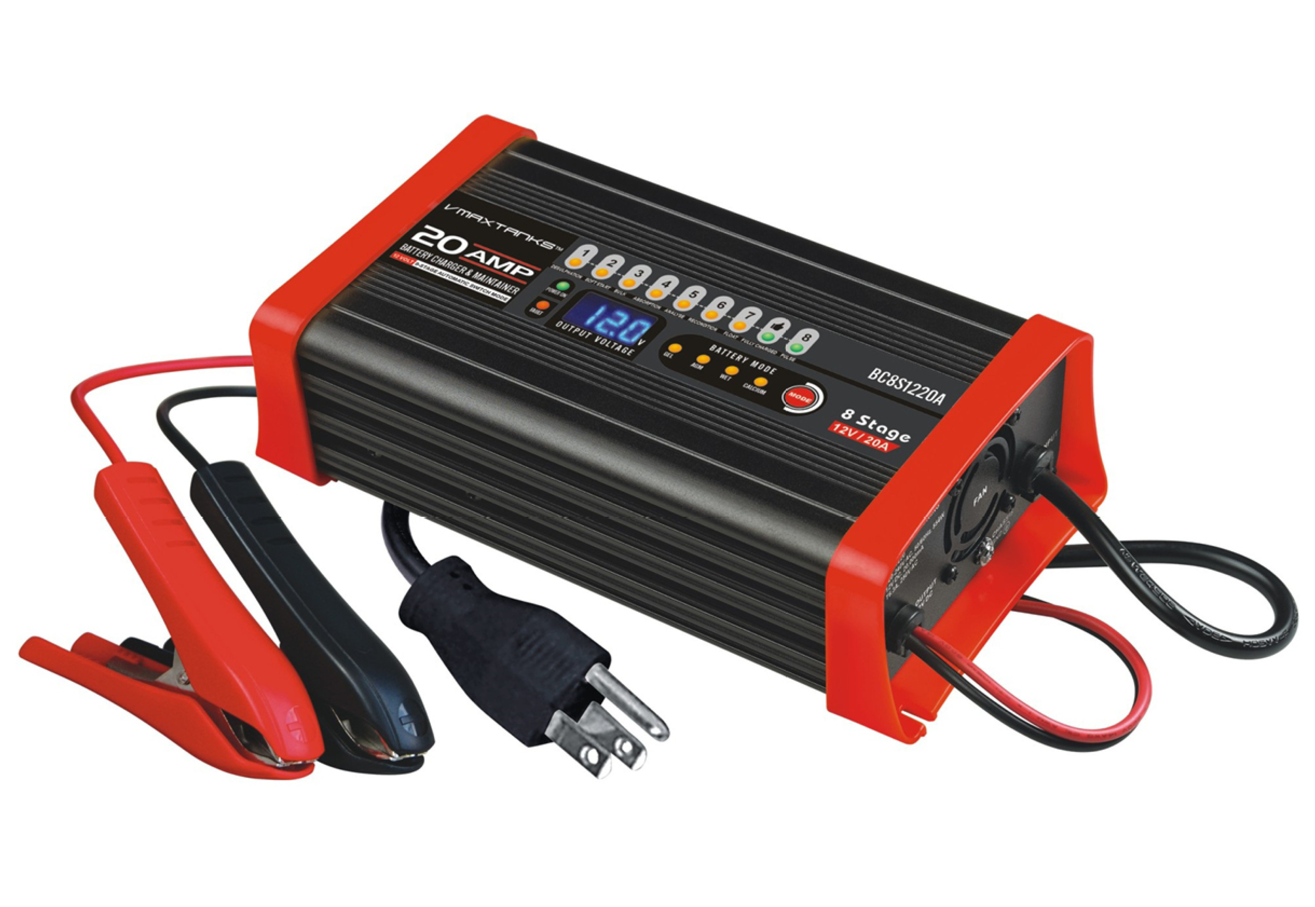 Bc8s1220a 12v 20a 8 Stage Smart Battery Charger Maintainer