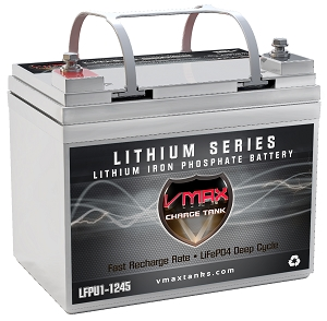 LFPU1-1245 LiFePO4 Li-Iron 12V 45AH Deep Cycle Battery