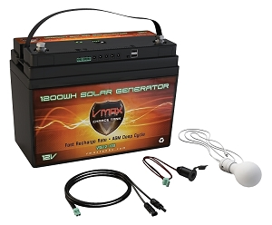 VSG12-100 12Volts, 1300WH Portable Solar Generator Package.