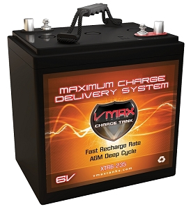 XTR6-235  6Volts 235AH  Deep Cycle, XTREME AGM Battery.