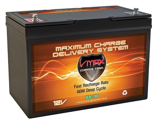 SLR100 12Volts, 100AH Deep Cycle, Solar AGM Battery.