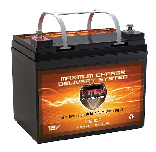 V35-857  Deep Cycle, High performance AGM Battery.