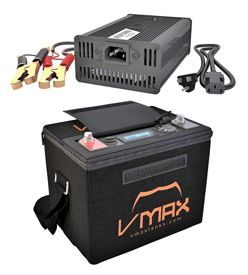 VPG12C-40LFP Li-Iron 12V 40AH Deep Cycle Battery Power Generator W/Charger