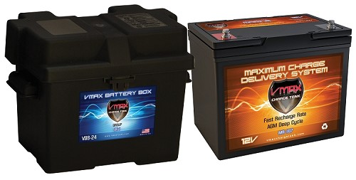 MR107-85 +B24 Deep Cycle, High performance 85AH AGM Battery