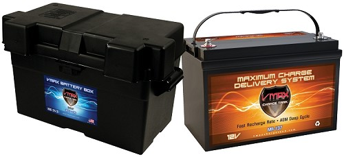 MR137-120  +B31 Box Deep Cycle, High performance AGM Battery